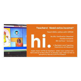 VIPKID Teacher Referral / Recruitment Flier Rack Card