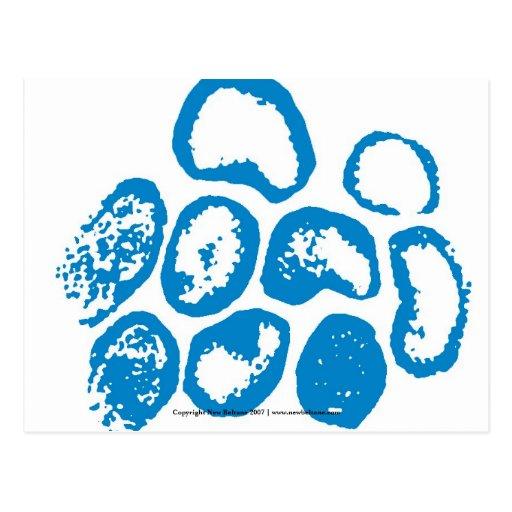 Viral [Large Blue Motif] Postcard
