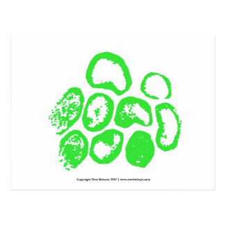 Viral [Medium green motif] Postcard