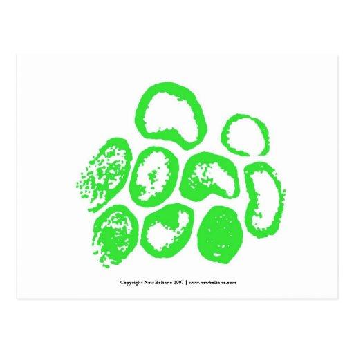 Viral [Medium green motif] Postcards
