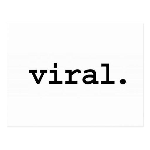 viral. postcard