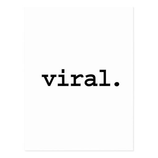 viral. post card