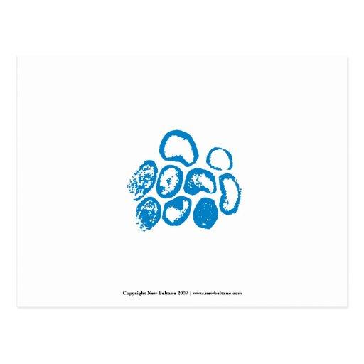 Viral [Small Blue Motif] Postcard