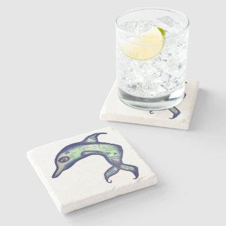 Virescent Dolphin Stone Coaster