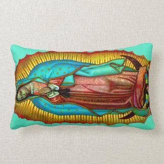 Virgen de Guadalupe Almohada oracion Salve Regina Cushions