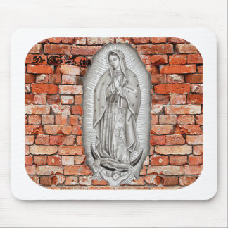 VIRGEN DE GUADALUPE  BYW  LADRILLO CUSTOMIZABLE MOUSE PAD