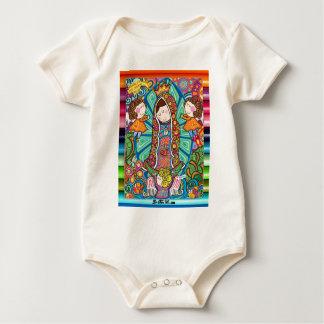 VIRGEN DE GUADALUPE CARICATURA 06 CUSTOMIZABLE PRO BABY BODYSUIT