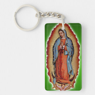VIRGEN DE GUADALUPE Circle (double-sided) Keychain