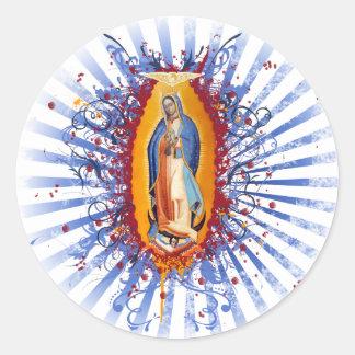 Virgen de Guadalupe Classic Round Sticker