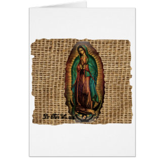 VIRGEN DE GUADALUPE COLOR CUSTOMIZABLE PRODUCTS GREETING CARDS