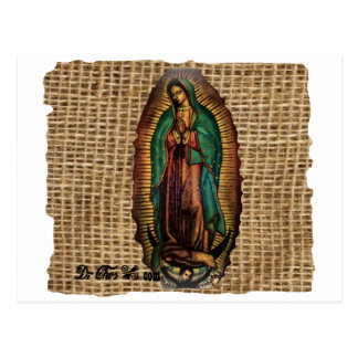 VIRGEN DE GUADALUPE COLOR CUSTOMIZABLE PRODUCTS POST CARD