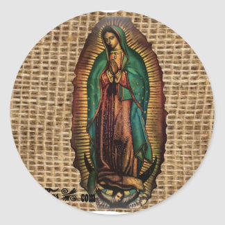 VIRGEN DE GUADALUPE COLOR CUSTOMIZABLE PRODUCTS CLASSIC ROUND STICKER
