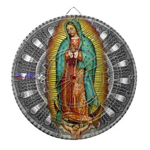 VIRGEN DE GUADALUPE CUSTOMIZABLE PRODUCTS DARTBOARD WITH DARTS