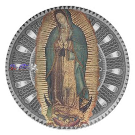 VIRGEN DE GUADALUPE CUSTOMIZABLE PRODUCTS PARTY PLATE