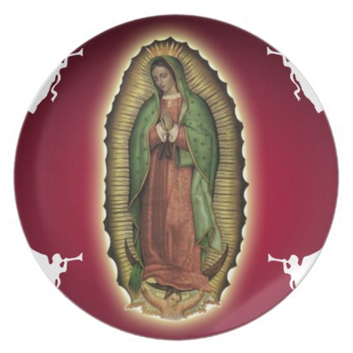VIRGEN DE GUADALUPE CUSTOMIZABLE PRODUCTS PLATE