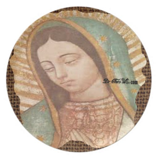 VIRGEN DE GUADALUPE  CUSTOMIZABLE PRODUCTS DINNER PLATE
