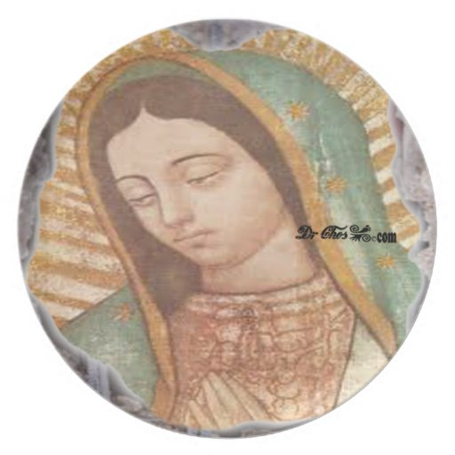 VIRGEN DE GUADALUPE  CUSTOMIZABLE PRODUCTS PARTY PLATES