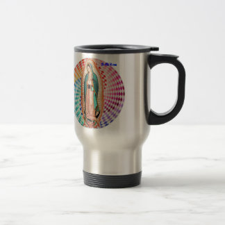 VIRGEN DE GUADALUPE MULTICO CUSTOMIZABLE PRODUCTS 15 OZ STAINLESS STEEL TRAVEL MUG