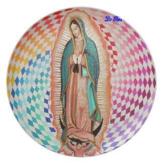 VIRGEN DE GUADALUPE MULTICO CUSTOMIZABLE PRODUCTS PARTY PLATE