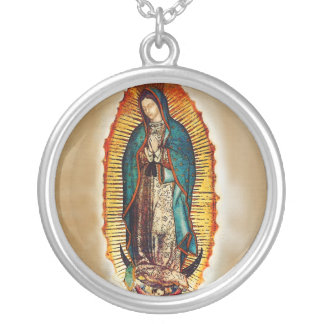 Virgen de Guadalupe Silver Necklace