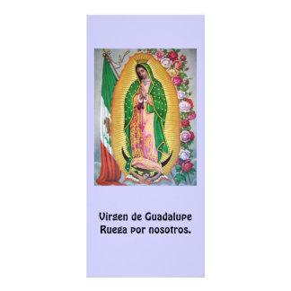 Virgen de Guadalupe Spanish Prayer Card Rack Card Template