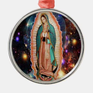 VIRGEN DE GUADALUPE UNIVERSO  CUSTOMIZABLES CHRISTMAS TREE ORNAMENTS