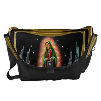 Virgen de Guadalupe (with angels) Messenger Bag