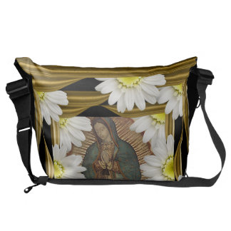Virgen de Guadalupe (with daisies) Commuter Bags