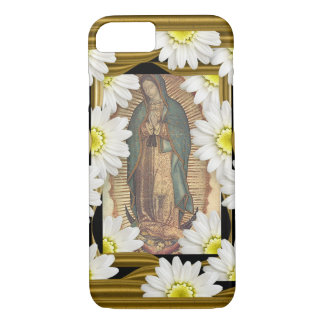 Virgen de Guadalupe (with daisies) iPhone 7 Case