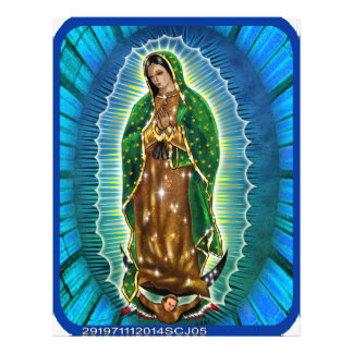 VIRGEN MARIA DE GUADALUPE CUSTOMIZABLE PRODUCTS 21.5 CM X 28 CM FLYER