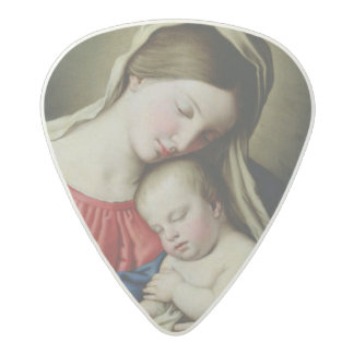 Virgin and Child Acetal Guitar Pick