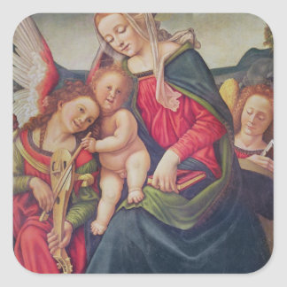 Virgin and Child and angel musicians Stickers