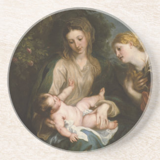 Virgin and Child - Anthony Van Dyck Coasters