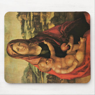 Virgin And Child Before A Landscape Mousepad