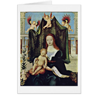 Virgin And Child By Hans Holbein The Elder Card
