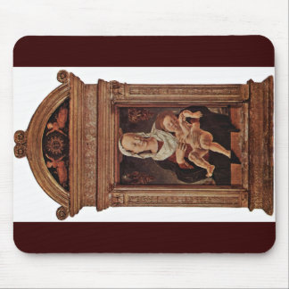 Virgin And Child By Tura Cosmè Mouse Pad
