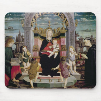 Virgin and Child Enthroned Mouse Pad