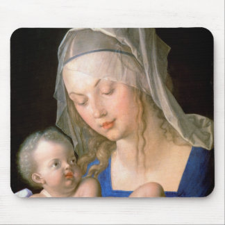 Virgin and child holding a half-eaten pear, 1512 mouse pad