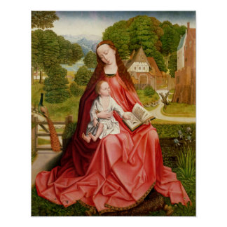 Virgin and Child in a Garden Poster