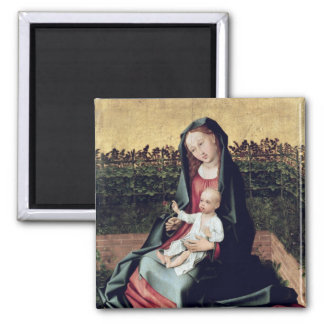 Virgin and Child in the Small Garden Square Magnet