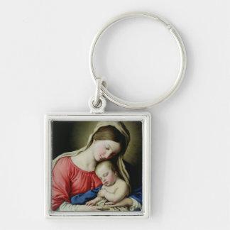 Virgin and Child Keychain