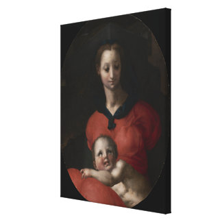 Virgin and Child, known as the Madonna del Libro Canvas Print