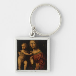 Virgin and Child oil on panel 2 Key Chains