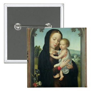 Virgin and Child (oil on panel) Pins
