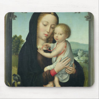 Virgin and Child (oil on panel) Mouse Pad
