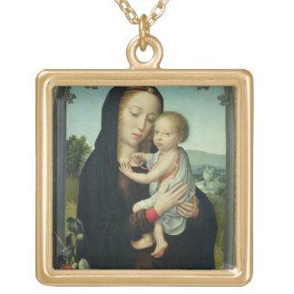 Virgin and Child (oil on panel) Custom Jewelry