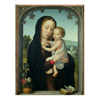 Virgin and Child (oil on panel) Postcard