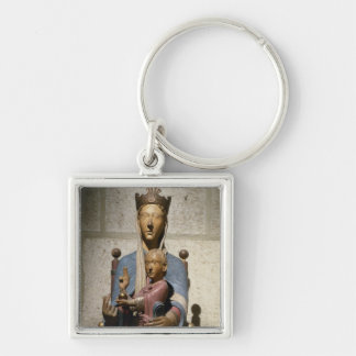 Virgin and Child polychrome wood Key Chains