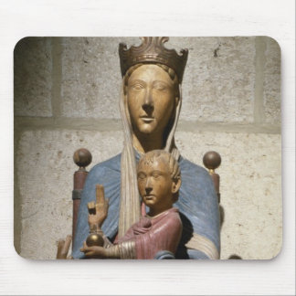 Virgin and Child polychrome wood Mouse Pads