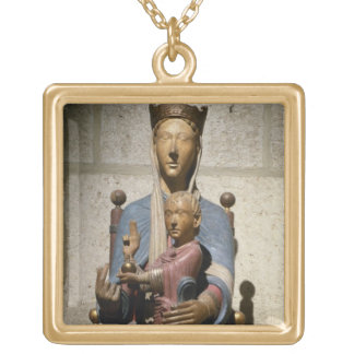 Virgin and Child, (polychrome wood) Necklace